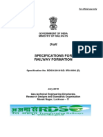Specifications of Railway Formation