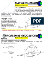 PROBLEMA GEODÉSICO-DIRECTO