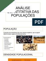 Análise Quantitativa Das Populações