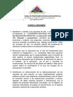 Conclusiones i Congreso Nacional de Profesores en Educación Artística