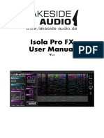Lakeside Audio - Isola Pro FX User Manual.V2.0