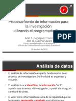 Procesamiento de Datos Con Excel 10 de Abril