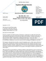 Letter from Economic Development, Transportation and Natural Resources Subcommittee to the Inspector General