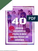 40 Jogos Incríveis Para Os seu Ministério de Jovens