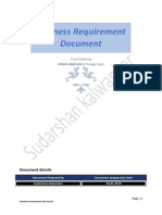 Functional requirement document
