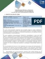 Syllabus Del Curso Instrumentación Industrial