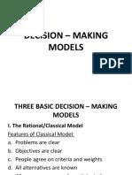 DECISION – MAKING MODELS Dean Alegado.pptx