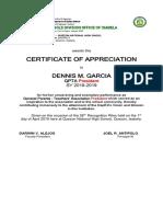 Gpta Officers Certificate