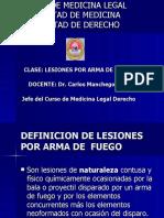Medicina Legal Clase Lesiones Por Armas de Fuego