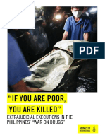 """""""if You Are Poor, You Are Killed"""" - Extrajudicial Executions in the Philippines' """"War on Drugs"""" by Amnesty International"""