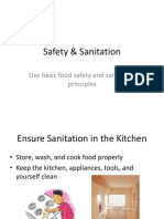 Safety and Sanitation Powerpoint