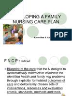 19175765 Developing a Family Nursing Care Plan