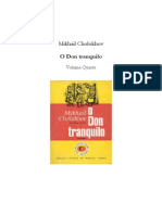 Cholokov, Mikhail. o Don Tranquilo, Vol. IV