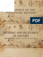 Meaning and Relevance of History