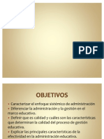 Marco Conceptual de la Administración Educativa