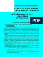 Politici Strategii Programe Privind Invatamantul Si Cercetar