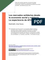 2. Mercados Solidarios Perpectiva ESS