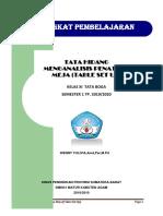 RPP Tata Hidang Penataan Meja (Table Set-Up)