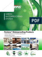 Pentens Green Waterproofing System