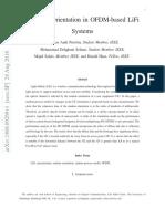 Terminal Orientation in OFDM-based LiFi