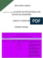 Pud 5to Lengua y Literatura
