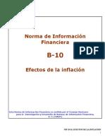 Norma de Informacion Financiera NIFB10 13