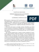 PRIMER EJERCICIO DE AUTONOMÍA CONSTITUCIONAL