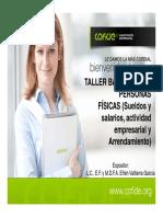 Taller Básico Isr Personas Físicas (Sueldos y Salarios)