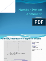 Module 2 -Number System Arithmetic