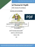 Trujillo Convergencia y Pobreza
