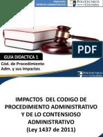 Guia Didactica 1-Primera Parte - Codigo de Proc. Administrativo y Sus Impactos