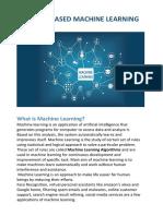 Instance Based Machine Learning