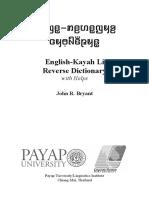English-Kayah Reverse Dictionary