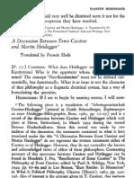Heidegger Contra Cassirer