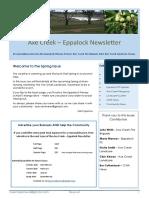 Axe Creek – Eppalock Newsletter