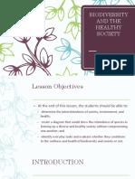 9. Biodiversity and the Healthy Society