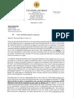 Cease and desist letter regarding Alienstock