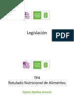 TP4 documento Legislacón Rotulado Nutricional