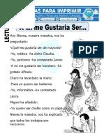 EVALUACIÓN DE COMPRENSIÓN LECTORA PARA PRIMER GRADO