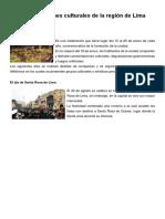 Manifestaciones Culturales de Region Lima 2
