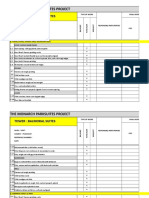 Official Punchlist Form