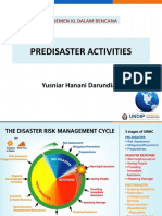 Predisaster Activities