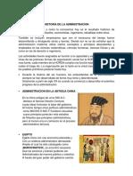 Exposicion Historia de La Administracion