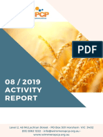 Wimmera PCP activity report August 2019