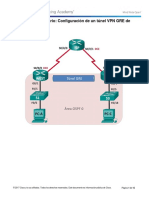3.4.2.6 Lab - Configuring a Point-To-Point GRE VPN Tunnel