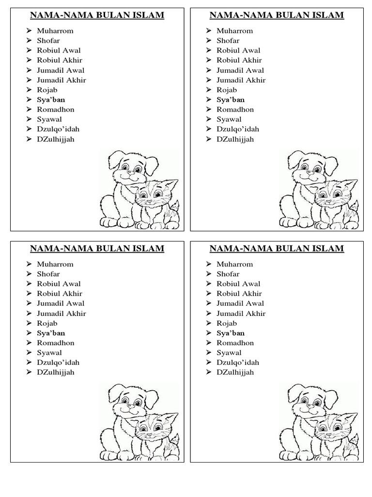 25 Paling Laju Nama Bulan Islam
