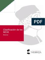 Clasificación de Los MCIA