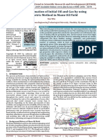 Reserve Estimation of Initial Oil and Gas by using Volumetric Method in Mann Oil Field