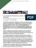 Las Causas Del Enfrentamiento Armado Interno de Guatemala — Prensa Objetiva