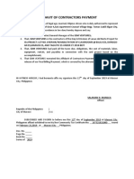 Affidavit of Contractor Payment